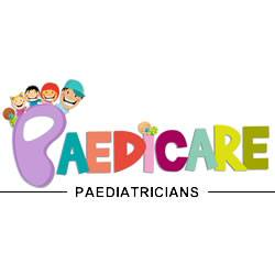 Bright coloured word Paedicare Paediatritions